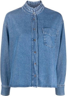 Essentiel Antwerp Button-Up Denim Shirt