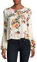 Romeo & Juliet Couture Textured Floral Blouse