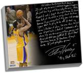 """Steiner Sports Los Angeles Lakers Robert Horry Big Shot Rob Facsimile 22"""" x 26"""" Stretched Story Canvas"""