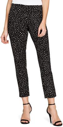 Nic+Zoe Dusk Dot-Print Slim Ankle Pants