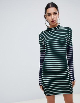 Asos DESIGN double sleeve stripe dress