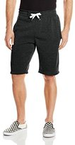 Southpole Men's Fleece Jogger Short in Basic Solid Colors