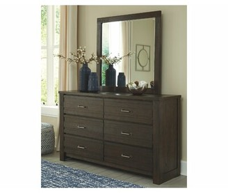 Signature Design by Ashley Darby 6 Drawer Double Dresser with Mirror