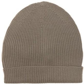 Rick Owens Ribbed Wool Beanie Hat - Black