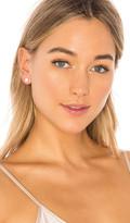 Sachi White Topaz Stud Earrings