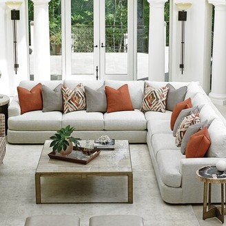"Lexington Laurel Canyon 124"" Wide Symmetrical Down Cushion Corner Sectional"