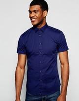 Benetton Short Sleeve Shirt In Slim Fit