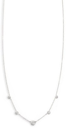 Phillips House Affair Diamond & 14K White Gold Graduated Station Necklace