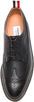Thom Browne Wingtip Leather Brogue Shoes in Black