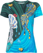 Mary Katrantzou card print T-shirt