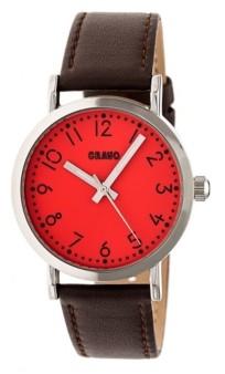 Crayo Unisex Pride Brown Genuine Leather Strap Watch 36mm