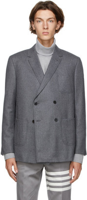 Thom Browne Grey Wool Sack Blazer