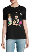 Dolce & Gabbana Cotton Graphic Embroidered T-Shirt