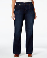 Style&Co. Style & Co Plus Size Jewel Wash Trouser Jeans, Only at Macy's
