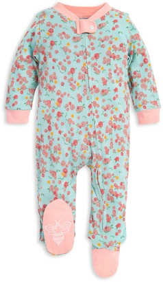 Burt's Bees Ditsy Floral Organic Baby Loose Fit Footed Pajamas
