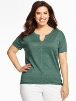 Talbots Linen Short-Sleeve Sweater