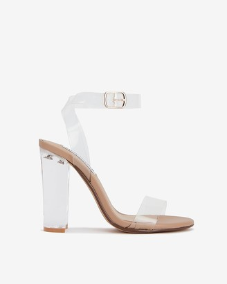 Express Steve Madden Camille Clear Heeled Sandals