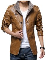 BOMOVO Men's Retro Quilted Real Nappa Jacket soft Leather Blazer