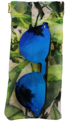 Emily Laura Designs Leaves Velvet Glasses Case