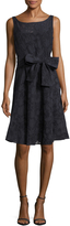 Josie Natori Women's Cotton Textured Fit And Flare Dress