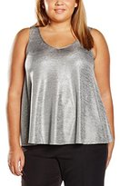 Evans Women's Shimmer Bar Back Tank Top