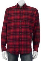 Croft & Barrow Men's Classic-Fit Plaid Flannel Button-Down Shirt