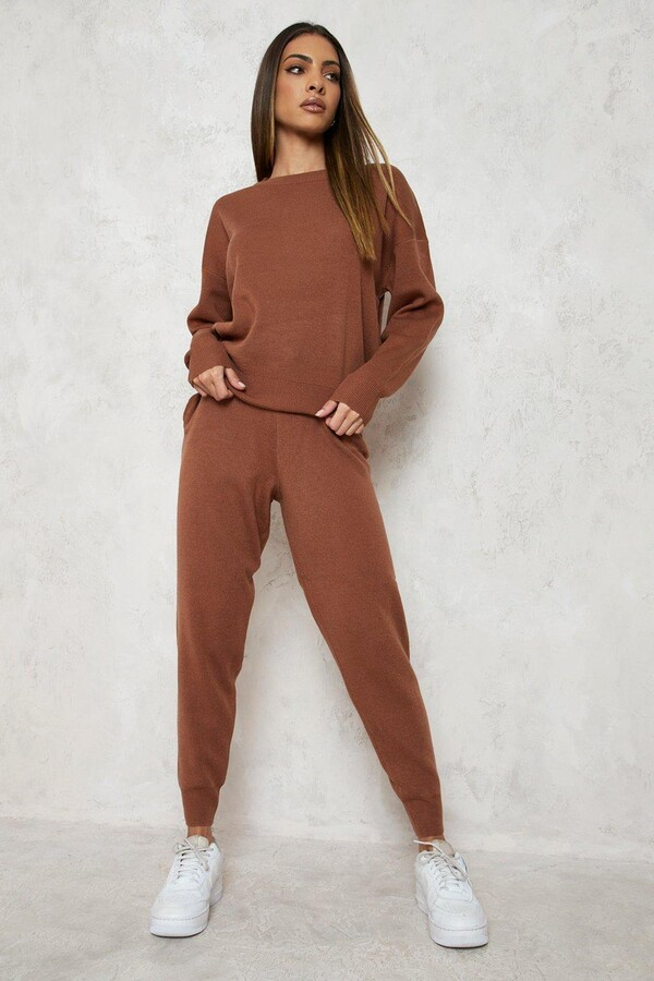 Thumbnail for your product : boohoo Knitted Tracksuit