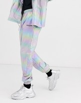 Sixth June holographic reflective track pant