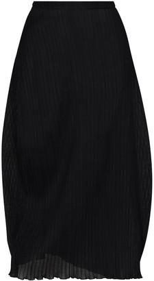 Jil Sander Pleated Tulip Midi Skirt
