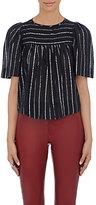 Etoile Isabel Marant Women's Sara Cotton-Blend Swing Top-BLACK