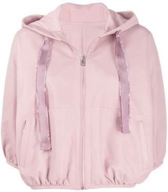 RED Valentino hooded cropped jacket