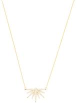Artisan 18K Yellow Gold & 0.75 Total Ct. Diamond Sweet Star Necklace