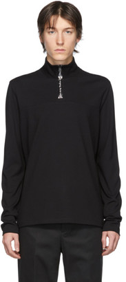 Acne Studios Black Half-Zip Sweater