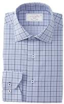 Lorenzo Uomo Boxed Gingham Trim Dress Shirt