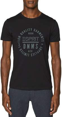 Esprit Icon Cotton T-Shirt with Logo Print on Chest