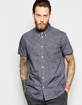 Ps By Paul Smith Paul Smith Jeans Short Sleeve Shirt With Scribble Print In Regular Fit