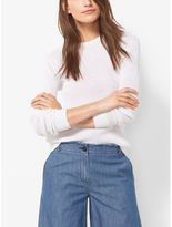 MICHAEL Michael Kors Ribbed Cotton and Silk Sweater
