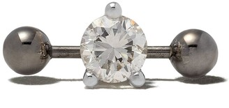 Delfina Delettrez Farfetch Exclusive 18kt white gold Two In One Pierced Diamond stud