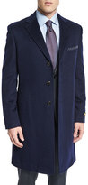 Neiman Marcus Cashmere Long Car Coat, Navy