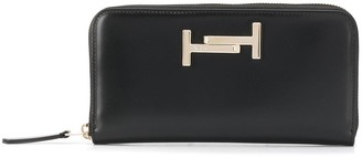 Tod's zip-around continental wallet