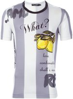 Dolce & Gabbana lemon print striped T-shirt