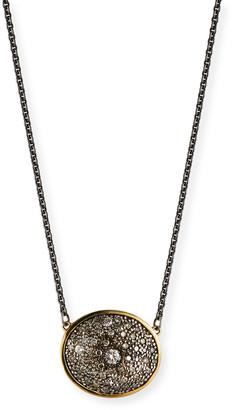Armenta Old World Diamond Oval Pendant Necklace