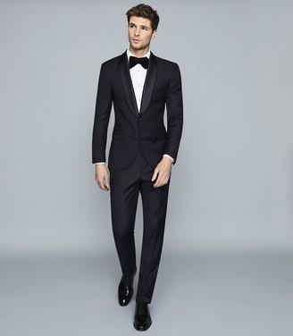 Reiss Dice - Slim Fit Shawl Collar Tuxedo in Dark Navy