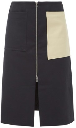 colville Patch-pocket Cotton-blend Twill Skirt - Beige