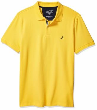 Nautica Men's Slim Fit Solid Performance Pique Polo Shirt