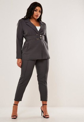 Missguided Plus Size Charcoal Co Ord Cigarette Pants