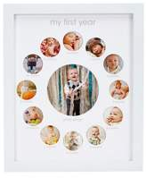 Pearhead 13-Photo First Year Collage Picture Frame in White