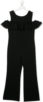 MonnaLisa TEEN cold shoulder jumpsuit