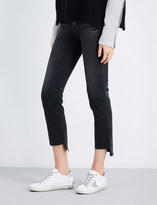 AG Jeans The Isabelle stepped-hem straight high-rise jeans