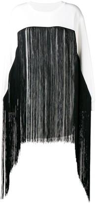 MM6 MAISON MARGIELA fringed long-line sweater